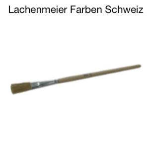 Emaillackpinsel, ca. 10mm, falbe Borsten, Holzstiel roh