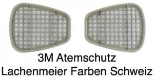 3M Atemschutz Maske 6000 Teile 6057 Filter Aktivkohlenfilter ABE11 Kombifilter 1 Paar