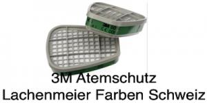 3M Atemschutz Maske 6000 Teile 6054 Filter Aktivkohlenfilter ABEK1 Ammoniak 1 Paar