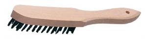Drahtbürste Stahl 1reihig Holzgriff