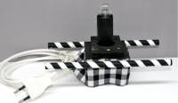 Laterne Kopflaterne gross Zubehör Tischständer elektro 230V für Glühbirne 15Watt