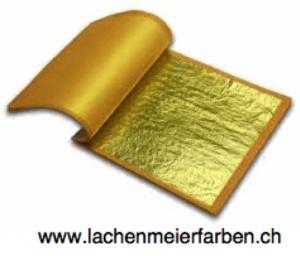 Gold 18K Blattgold Citron lose 80x80mm