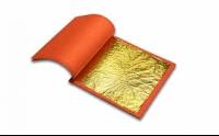 Gold 22K Blattgold Orangegold Doppel lose 80x80mm