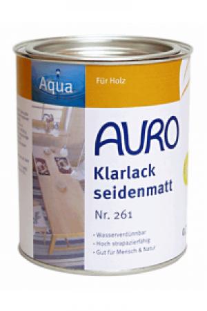 Naturfarben Auro 261 Klarlack seidenmatt WB Aqua für Holz
