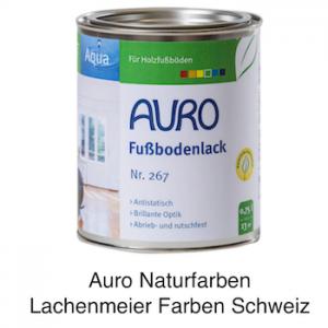 Naturfarben Auro 267 Fussbodenlack Klarlack WB Aqua für Holzböden