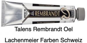 Talens Rembrandt Oelfarbe A 119 S1 Transparentweiss