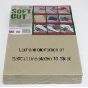 Linolplatten Softcut Kunststoffplatten 3mm 20x30cm Set 10 Platten