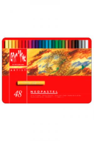 Caran d'Ache Artist Neopastel Set 48 Farben Metallschachtel