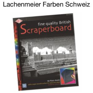 Karton Schabkarton / Scraperboard Schwarz / Weiss 50x61cm Set 10 Bogen