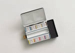 Schmincke Aquarell Horadam Set 408 Metallkasten mit Wassertank 8x 1/2 Näpfchen