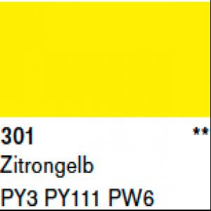 Lascaux Gouache Temperafarbe 301 Zitronengelb