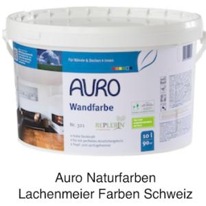 Naturfarben Auro 321 Naturharz Wandfarbe Weiss 10 Liter = 14kg