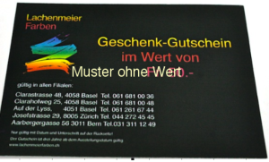 Geschenk Gutschein Fr. 100.00