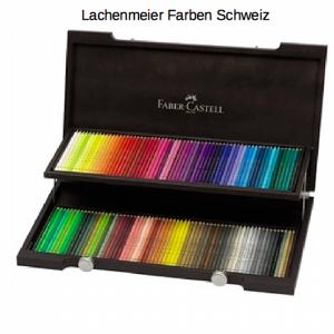 Faber-Castell Farbstift Polychromos Künstler Set 72er Holzkoffer