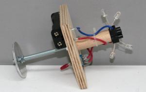 Laterne Kopflaterne gross Zubehör Elektroteil fuer Batterie + LED