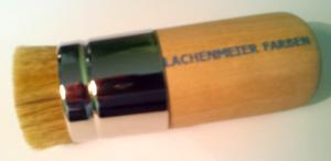 Peka Schablonierpinsel/ Stupfpinsel, extra dick, ca 40mm, kurze Borsten, roher stumpfer Stiel