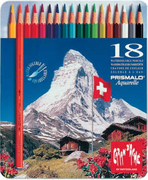 Caran d'Ache Farbstift Prismalo Set Metallschachtel 18 Farben
