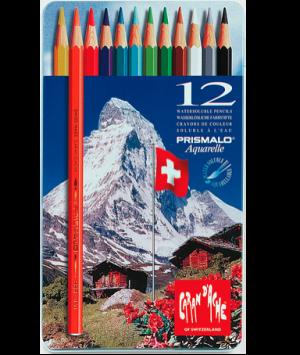 Caran d'Ache Farbstift Prismalo Set Metallschachtel 12 Farben