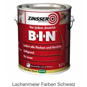 Zinsser B-I-N Haftgrund / Isoliergrund: Flecken - und Geruchskiller auf Schellack-Basis / 45 Minuten
