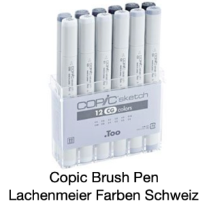 Copic Sketch Set 12 Farben Grautöne / Cool Grey
