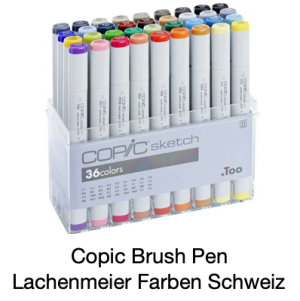 Copic Sketch Set 36 Basisfarben Pinselmarker