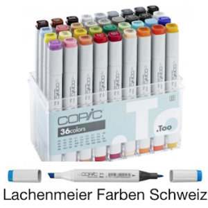 Copic Marker Set 36 Farben Basisfarbenset
