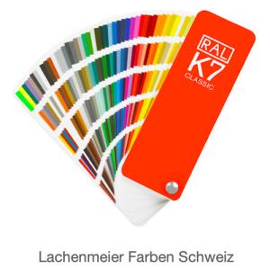 Farbkarte norm Ral Karte Classic K7 Glanz mit 213 Ral Farbtönen mit Nummer + Hilfsbezeichnungen