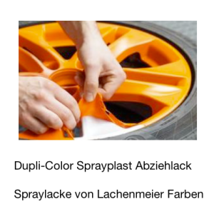 DupliColor Sprayplast Abziehlack 088 Orange Glanz / Spray Folienbeschichtung