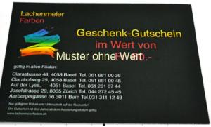 Geschenk Gutschein Fr. 1000.00