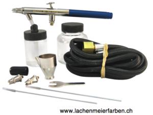 Badger Airbrushpistole 150-5 Set Metallkoffer inkl. Düsensätze L M + F + div Zubehör