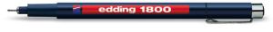 edding 1800 Profipen 0,1 Rot : Strichbreite ca. 0,25mm