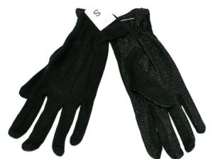 Fasnachts- Handschuhe Schwarz mit Noppen S