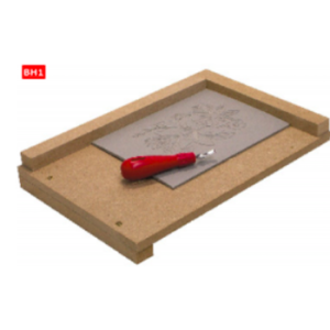 Linolschnitt Handschutz: Sicherheits- Grundplatte 30x40cm, Holz