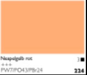 Talens Cobra Wasservermalbare Oelfarbe A 224 S3 Neapelgelb Rot