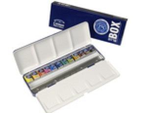 Winsor&Newton Cotman Aquarell Set Metallkasten Blue Box (12 1/2 Näpfe)