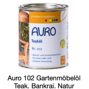 Naturfarben Auro 102-85 Gartenmöbelnöl Classic Bankirai