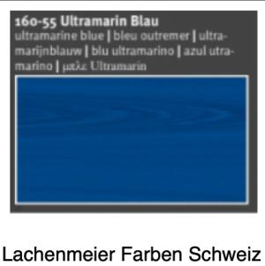 Naturfarben Auro 160 A Holzlasur WB 160-55 ultramarinblau