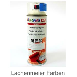 """DupliColor professional Heizkörperlack Ral 9010 """"Weiss"""" Spray mit verstellbarer Düse Hitzefest ca. 150°C"""