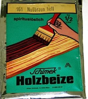 Holzbeize in Pulver spritlöslich 161 Nussbraun hell