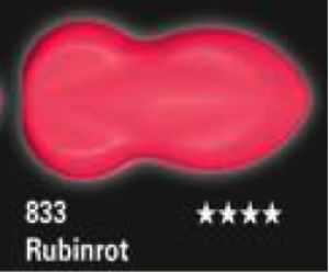 Schmincke Aerocolor Total Cover 833 Rubinrot  Airbrushfarbe WB deckend
