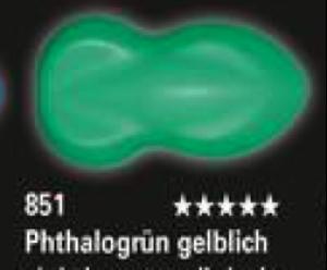 Schmincke Aerocolor Total Cover 851 Phthalogrün gelblich Airbrushfarbe WB deckend
