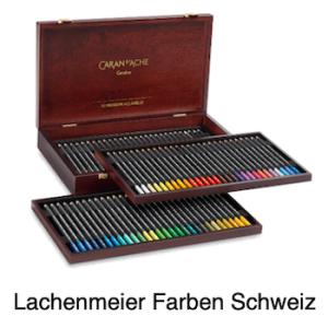 Caran d'Ache Artist Museum Aquarell Set Holzkoffer 80 Farben und Zubehör