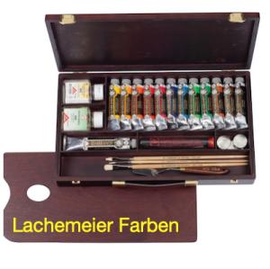 Talens Rembrandt Oelfarbe Holzkoffer ROC 15 Professional mit Zubehör