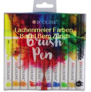 Talens Ecoline BrushPen Set 10 Stifte Transparente Wasserfarbe  im Pinselstift