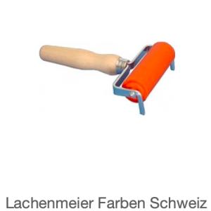 Abig Farbwalze / Linolwalze 90x30mm Flachstahl mit Holzgriff