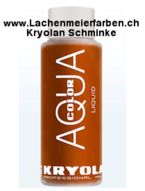 Kryolan Aquacolor Liquid 040 Braun Schminke für Bodypainting und Fasnacht