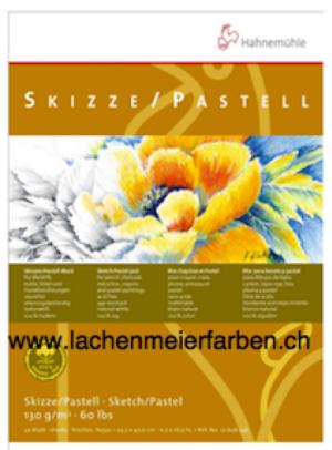 "Hahnemühle Block Skizzenblock Pastellblock ""100% Hadern"" 130gr A4 21,0x29,7cm 30 Blatt"