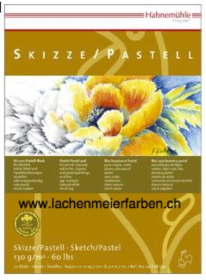 "Hahnemühle Block Skizzenblock Pastellblock ""100% Hadern"" 130gr 30 Blatt A2 42,0x59,4cm"