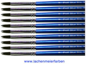 Profi Blue Blau R Künstlerpinsel Rund 02 Set 10 Pinsel Stiel Blau Kunsthaar Sepia