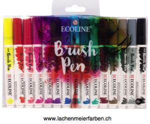 Talens Ecoline BrushPen Set 15 Stifte Transparente Wasserfarbe  im Pinselstift